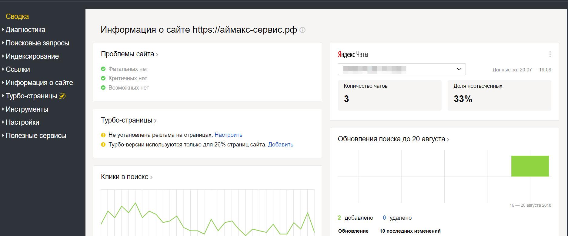 Yandex Chat Statistics